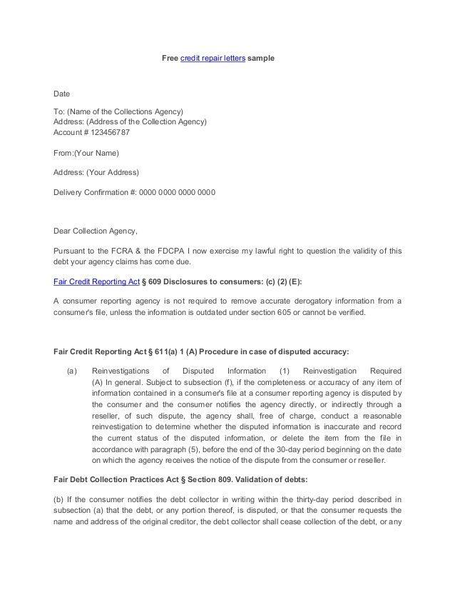 Section 609 Credit Dispute Letter Sample Credit Repair Secrets Exposed Credit Repair Letters Credit Repair Credit Dispute