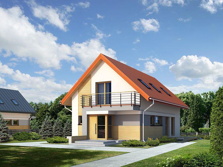 Niewielki, ale wygodny dom na wąską działkę.