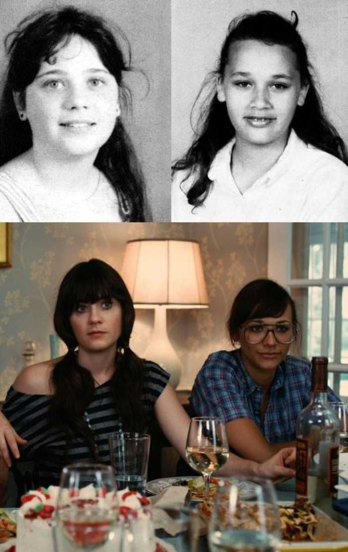 keeping it in perspective: Zooey  Rashida, before/after adolescence