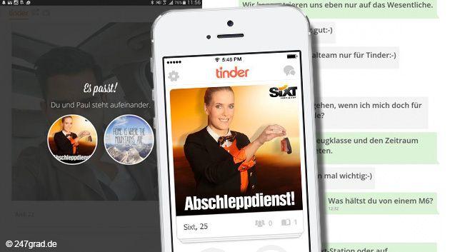 """Diese Marketing-Idee passt perfekt – oder wie eine Dating-App sagen würde: Sie ist ein """"Match"""". Die Social-Media-Profis von Sixt haben die Flirt-App Tinder als neues Jagdrevier zum anbaggern von Neukunden entdeckt."""