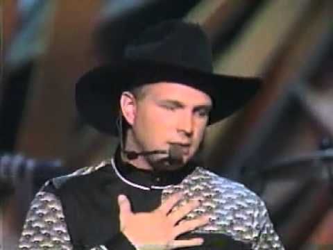 "Garth Brooks - 1992 - ""The River"" country music awards. Growing up during the new traditionalist hat act  era of country music was amazing!"