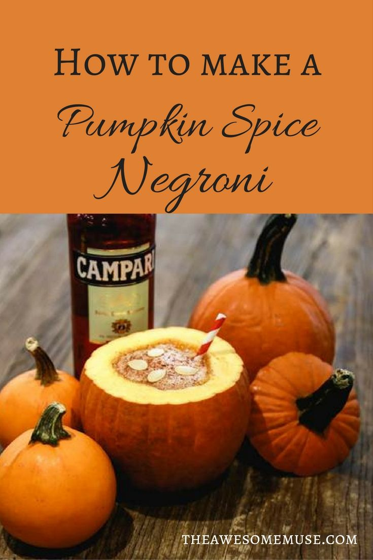 How to make a Pumpkin Spice Negroni