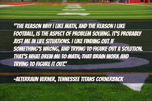 Have any football superfans in your class? Check out what NFL star @Alvern_1 says about football and math. #Math #ScholasticMath