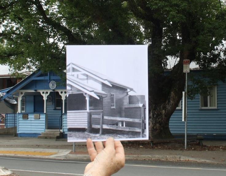 Now and then photo - CWA hall Eumundi where the famous Eumundi markets started