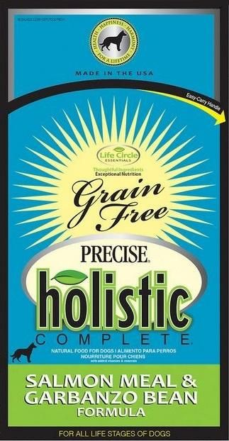 Precise Holistic Complete Grain Free Salmon Meal and Garbanzo Bean Formula Dry Dog Food