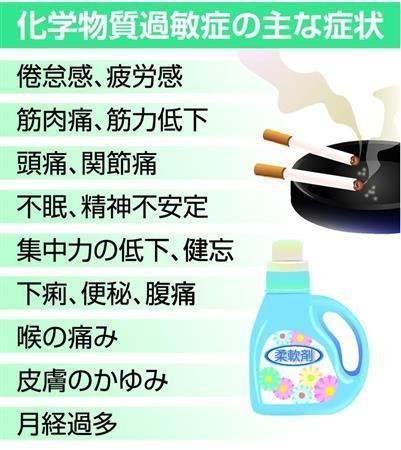 他人の服に残る柔軟剤は「毒ガスの苦しみ」 理解されない化学物質過敏症の患者(産経新聞) - Yahoo!ニュース