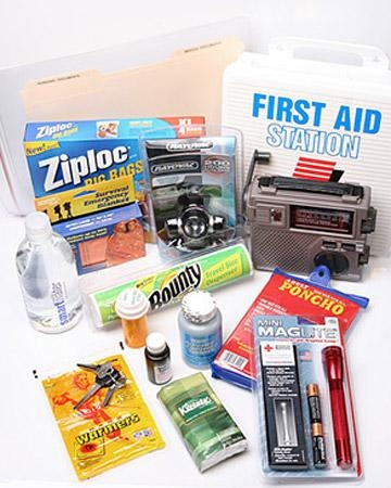 """Tips for making first aid kits or """"go bags"""" (to be used in emergency evacuations). Good for girls earning their first aid badge. Could also be the basis of a Take Action project--girls could create kits for neighbors, community organizations (library, school, homeless shelter), Habitat for Humanity houses, etc. to make it sustainable: do a presentation, create a handout or video, or organize a workshop to educate and inspire others to do the same."""