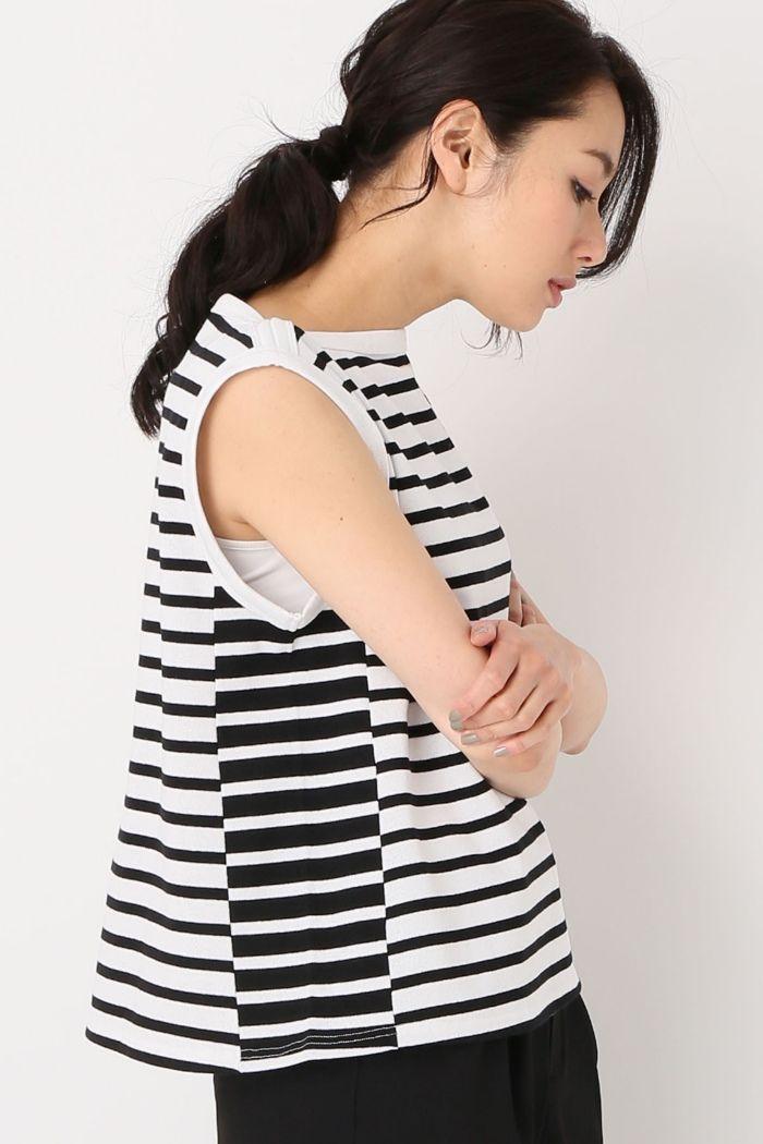 Spick and Span(スピック&スパン) 【MAISON CHANTOISE】 Stripe comboタンクトップ   スタイルクルーズ