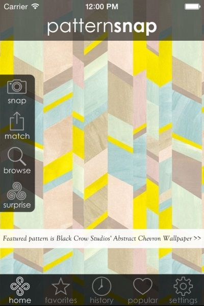 Today's Featured pattern is Black Crow Studios' 'Abstract Chevron' Wallpaper