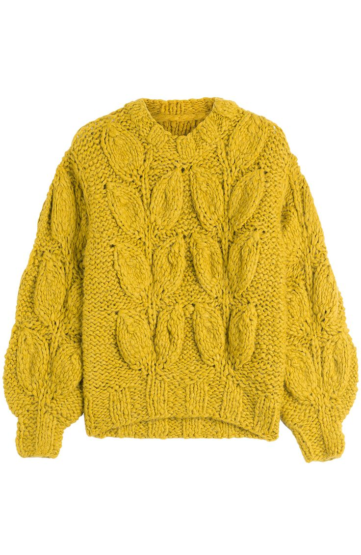 I love this chunky sweater! It'd be fun to play with different colors and texture mixes of yarn found at #TuesdayMorning to make one inspired by it! | MAISON MARGIELA Chunky Knit Pullover With Alpaca. #maisonmargiela #cloth…