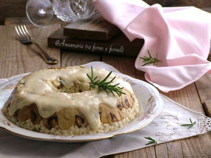 Corona+di+riso+ai+funghi