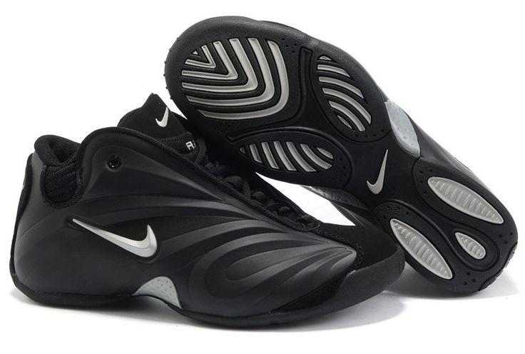 big sale 75943 447e4 ... nike air flightposite kg black silver men shoes nike shoes store  pinterest nike ...