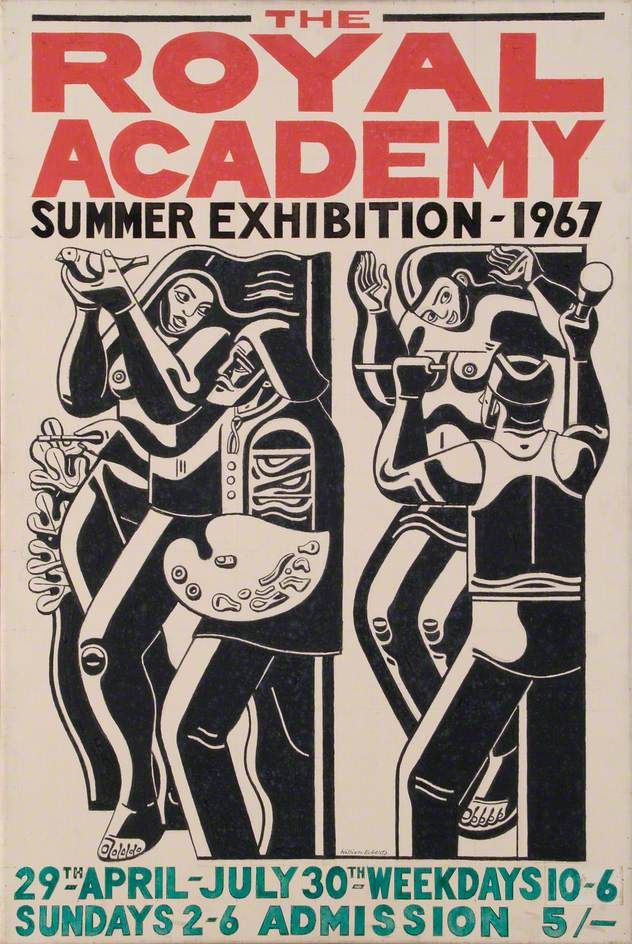 Poster Design for the Royal Academy Summer Exhibition 1967 by William Patrick Roberts