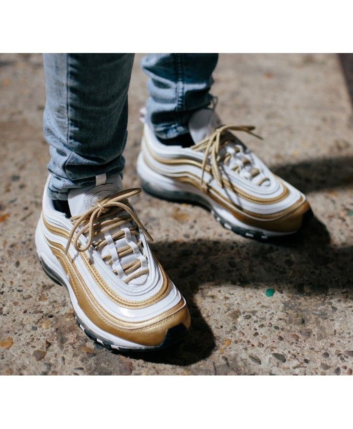 Nike Air Max 97 White Gold Trainers Sale UK