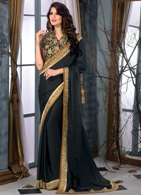 Black never goes out of vogue. If you are looking for one of the best #partywearsarees which will make you look ravishing. Choose this black #georgettesaree which has a great design and comes with fine detailing.