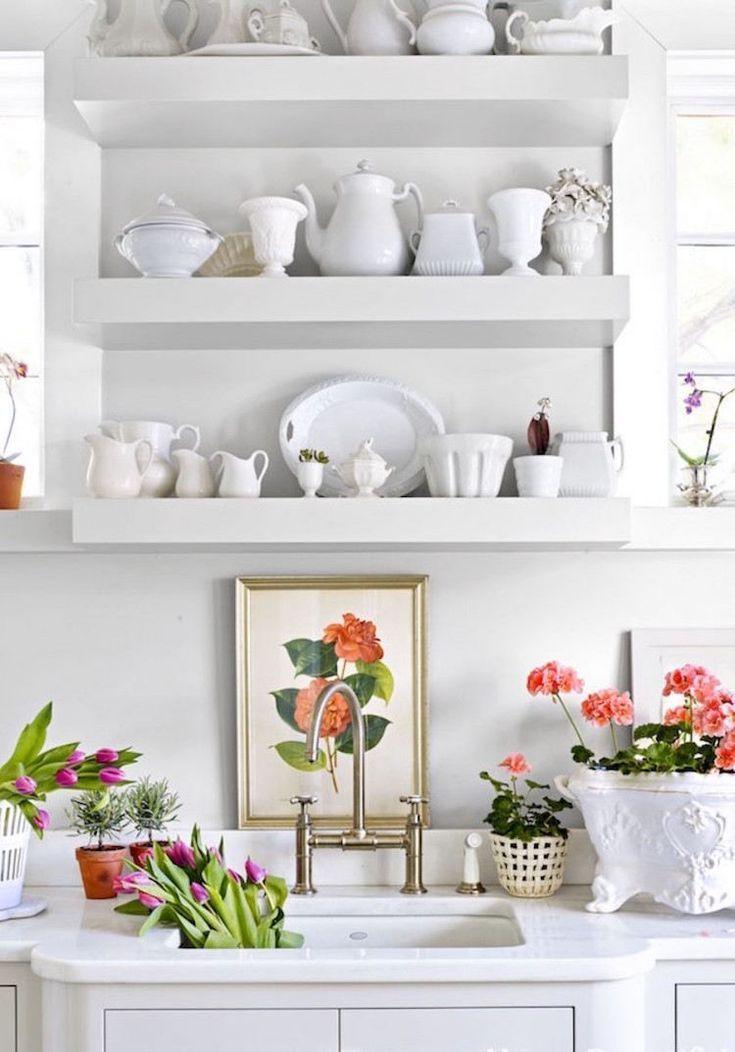 Idée Décoration Maison En Photos 2018 Cuisine Blanche Shabby Comme