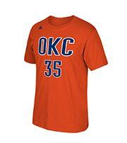 ADIDAS Men's Oklahoma City Thunder Kevin Durant #35 Orange T-Shirt