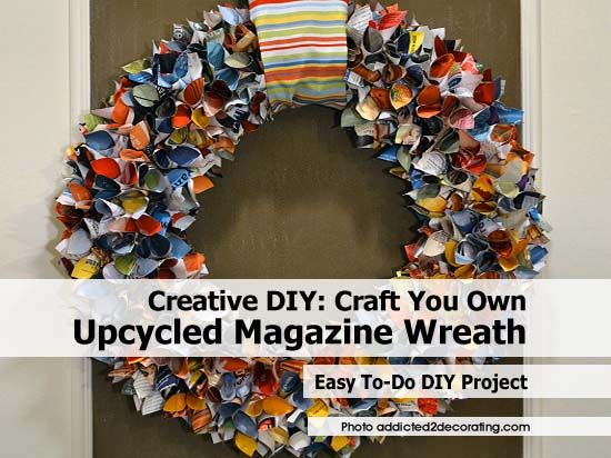 Creative DIY: Craft Your Own Upcycled Magazine Wreath ...