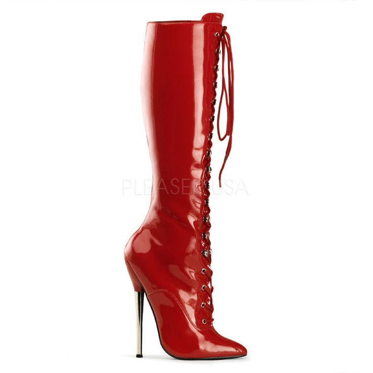 Name: Dagger-2020 Red Knee High Fetish Boot Price: $88.99 GO HERE
