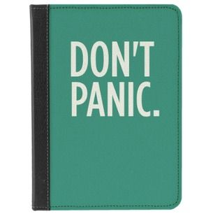 Don't Panic - m-edge has an app that lets you custom design a Kindle Case
