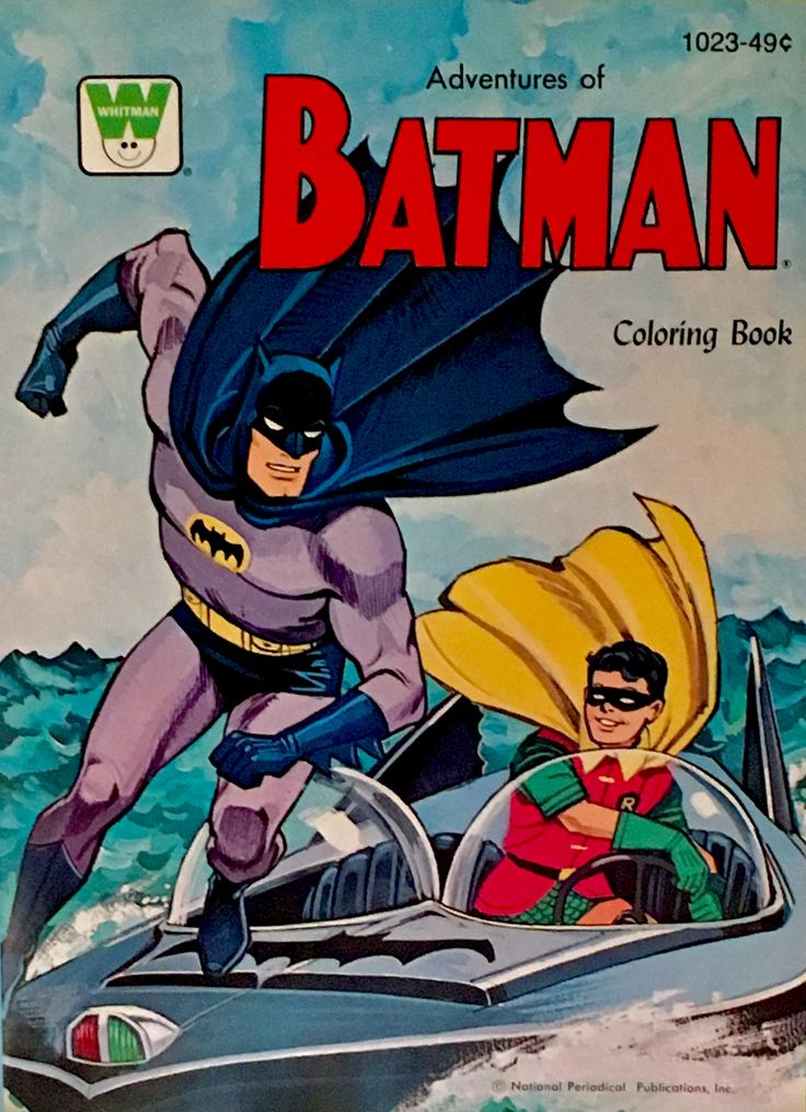 1966 Adventures Of Batman Whitman Coloring Book