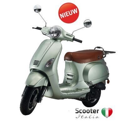 Flash retro scooter lime groen