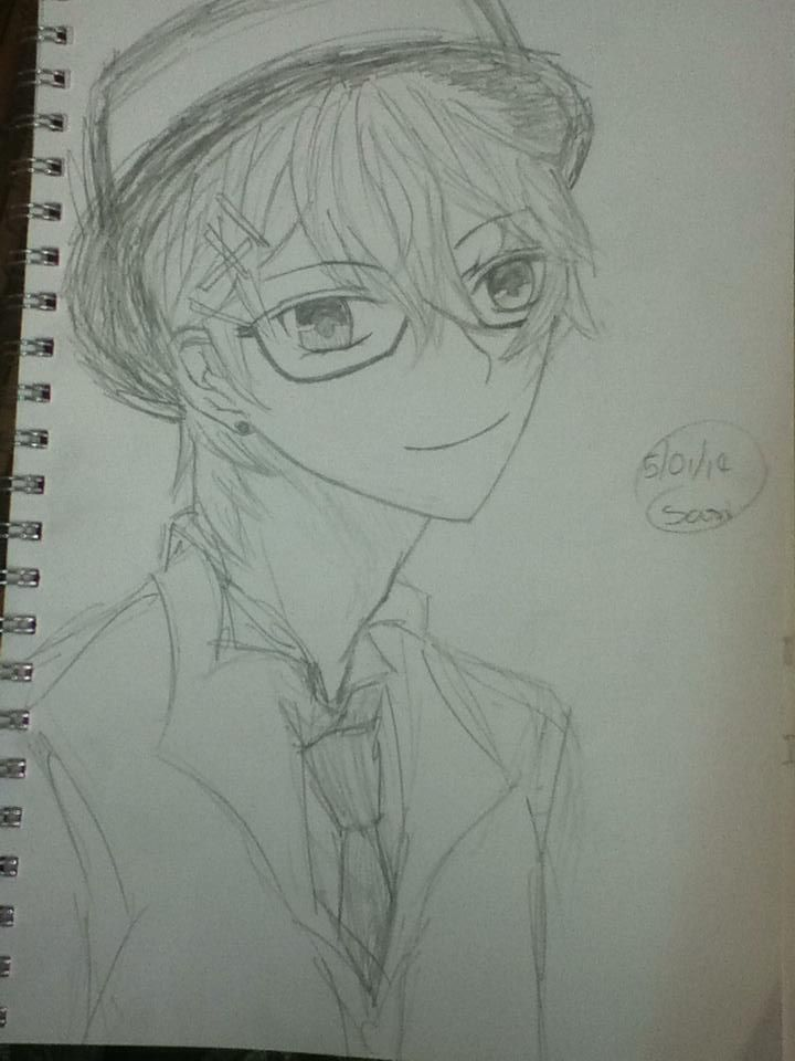 Hot Anime Guys. (That was the first time I drew and anime guy hope u like it)