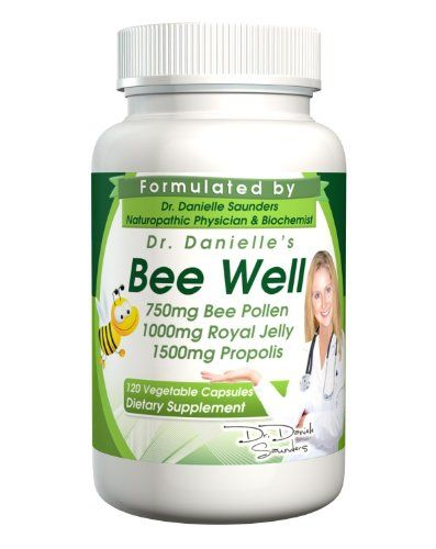 Dr. Danielle's Bee Well (Royal Jelly 1500mg, Propolis 1000mg, Beepollen 750mg) in 4 Daily Capsules- 240 Caps | Your #1 Source for Health & P...