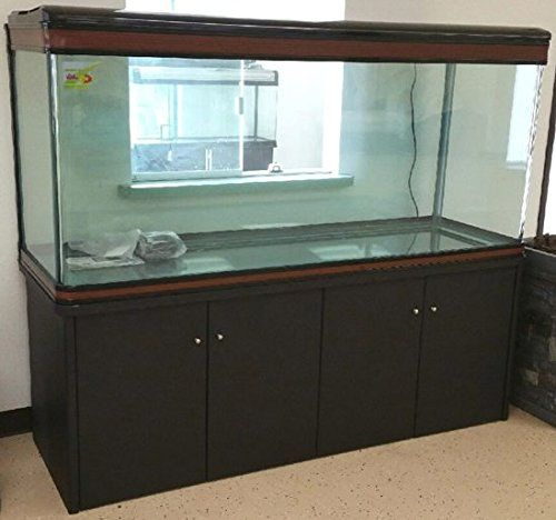 PLEASE BE SURE TO EMAIL YOUR BEST CONTACT PHONE #. WE CANNOT SHIP THIS ORDER WITHOUT THIS! New model 200 Gallon Frame-less Style Aquarium tank with matching black cabinet. Comes complete with 4 x 40w ...