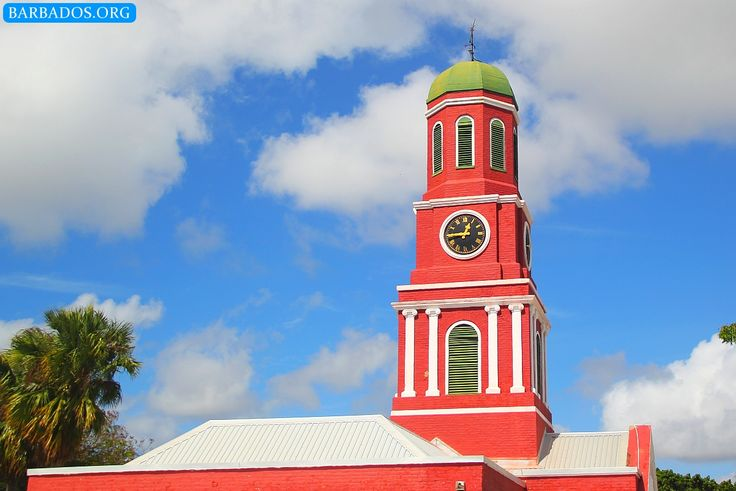 The beautiful clock tower at the Garrison, part of Barbados' UNESCO World Heritage Site