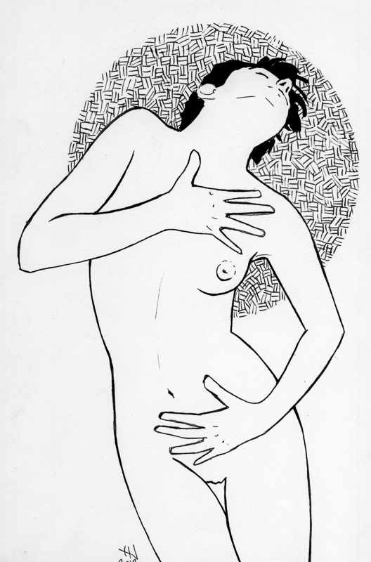 NAKED ART SERIES · Female // ARTIST · Jordi NN // #Naked #Nude #Art #Draw #Ink #Woman