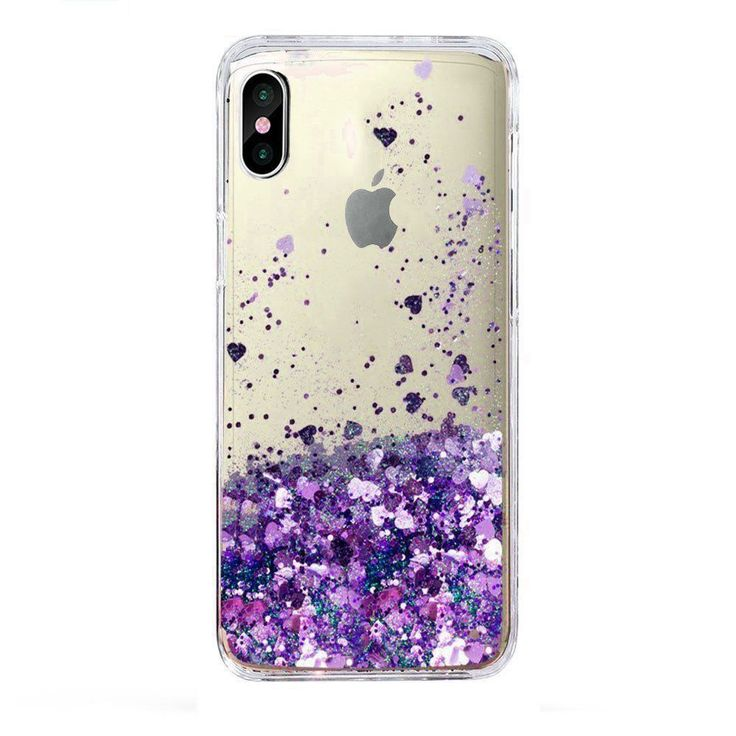 For iPhone X Case Liquid Glitter Sparkle Girl Women Cute Clear New Fassion Style #Skmy
