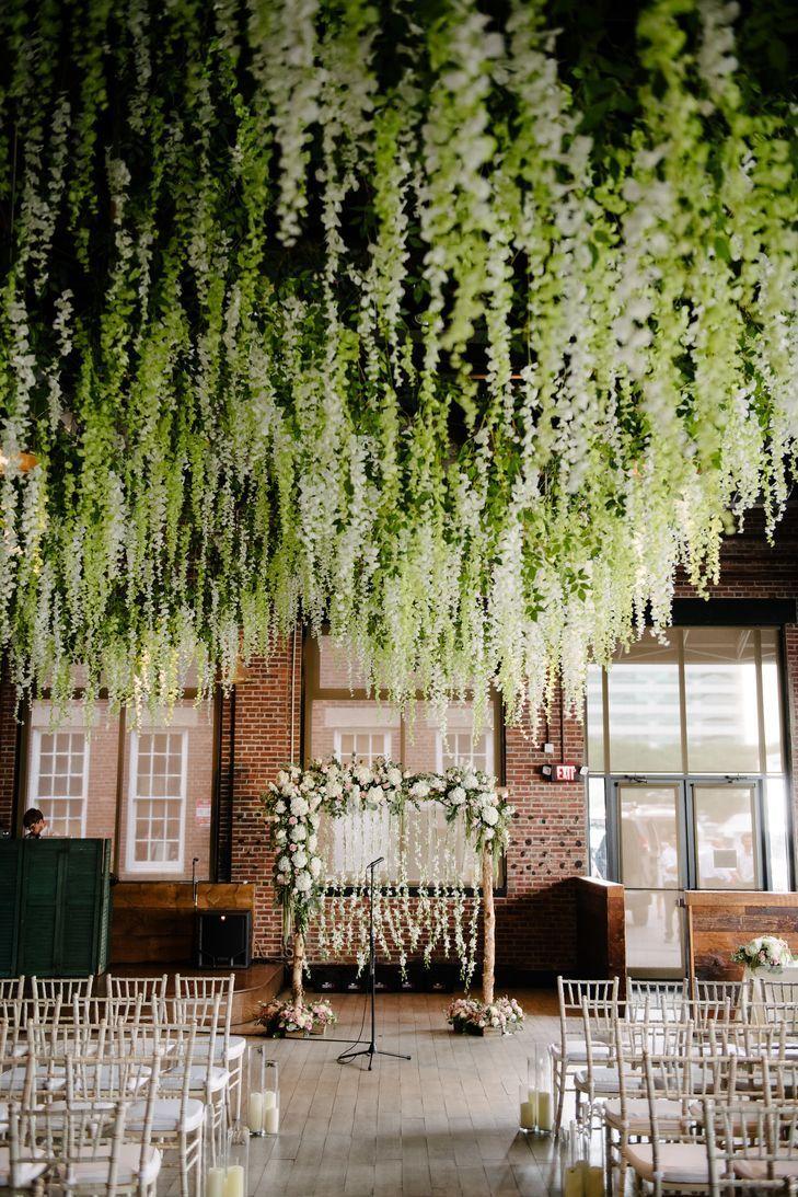 A Delicate Secret Garden Wedding At Battello In Jersey City New Jersey Secret Garden Wedding Jersey City Wedding Garden Wedding Venue