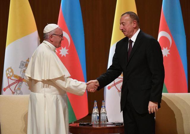 Azerbaian: Papa Francesco e il presidente Ilham Aliyev
