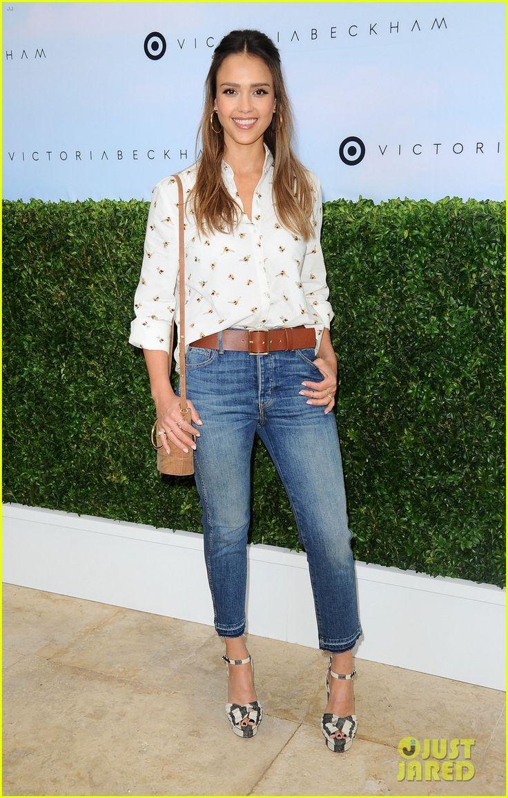 Jessica Alba, Zoe Saldana, & Kate Mara Attend the 'Victoria Beckham for Target' Launch Event