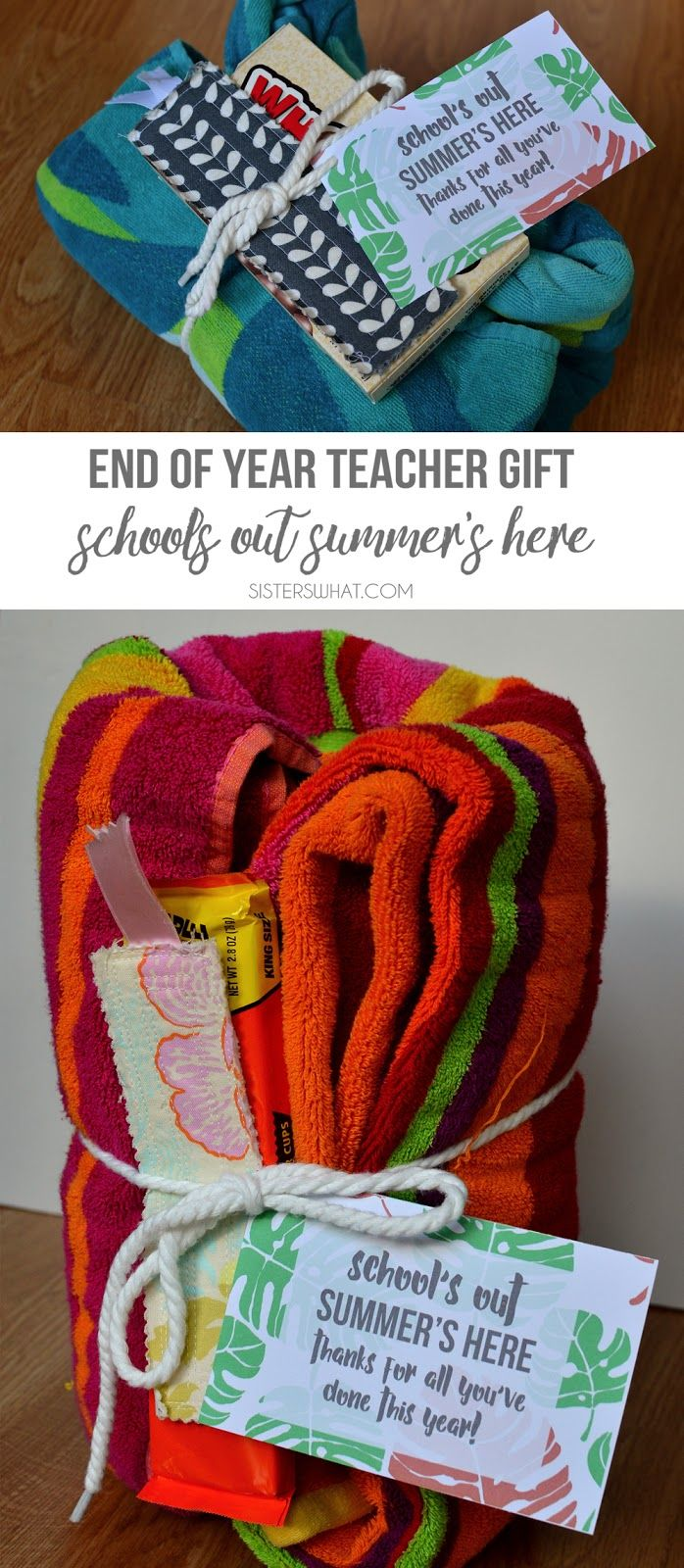 End of the Year Teacher Gift Ideas with free printable!
