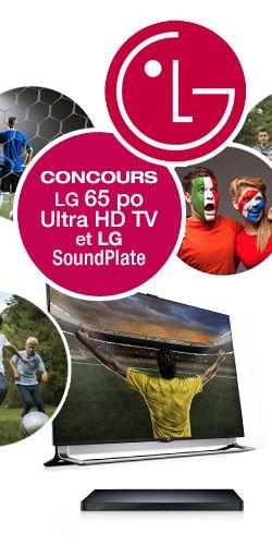 Gagnez une télé LG 65 po avec barre de son. Fin le 4 juillet.  http://rienquedugratuit.ca/concours/tele-lg-65-po-et-barre-de-son/