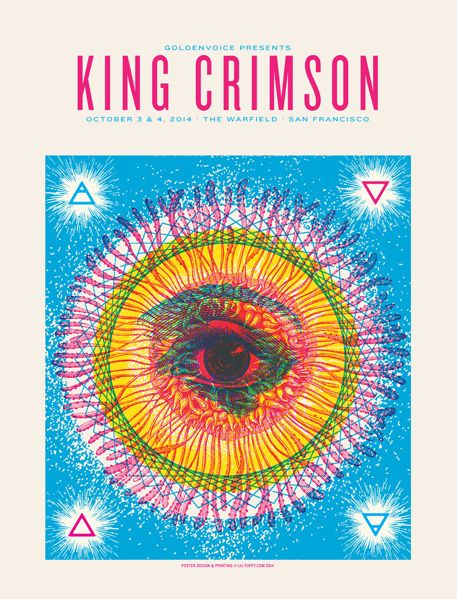 King Crimson // poster gig art design
