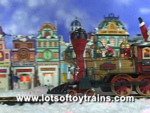 """A Great Video to watch anytime not just for Christmas!  See this fantastic train winding through the Christmas village to the tune of """"Jingle Bells""""."""