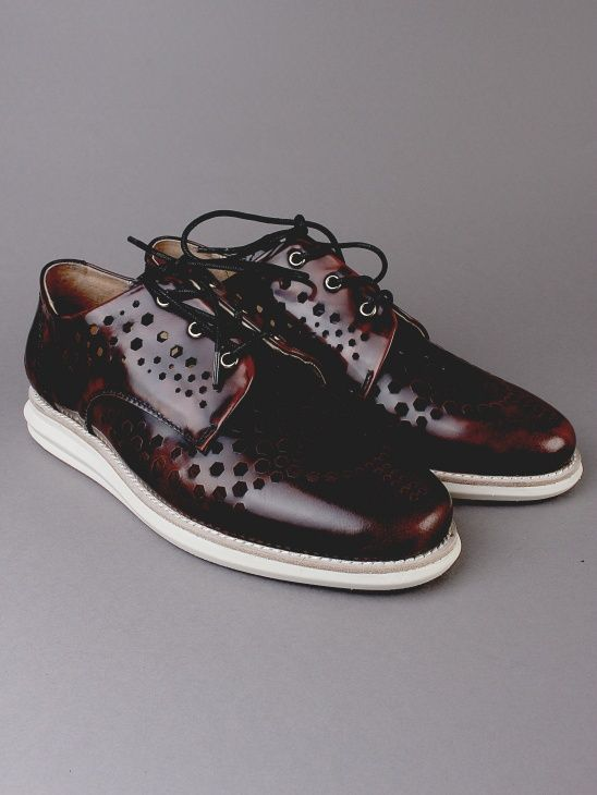 380g A Brown Brush off Leather by Gram Shoes at Aplace.com. Men's  ShoesSweden