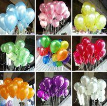 ГОРЯЧИЕ ПРОДАЖА 100 шт./лот 10inch1. 2 г воздушный шар Латекса Гелий Утолщение Перл воздушные шары Свадьба День Рождения Шары детские игрушки подарки бесплатно(China (Mainland))