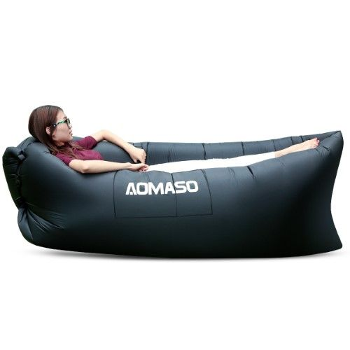 Aomaso Inflatable Waterproof Lounger Beach Couch Sofa With Portable Carry Bag Outdoor Bean