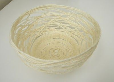 Paper Mache Yarn Bowl