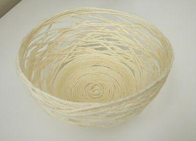 yarn bowl with flour glue