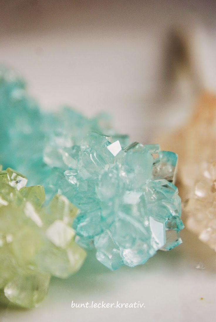 bunt.lecker.kreativ: Kinderexperiment...Zuckerkristalle selber züchten...