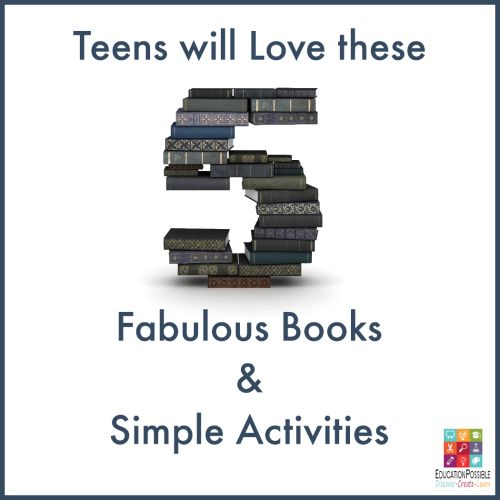 Teens will Love these 5 Fabulous Books & Simple Activities @Education Possible 5 Days of Teen Book Club. Over the next five days, Susan and I will be sharing a few of our favorite books from our book club, along with activities and discussion questions you can use with your middle & high school students.