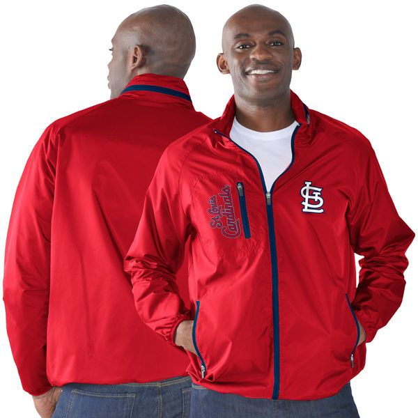 St. Louis Cardinals G-III Sports by Carl Banks Game Plan Full-Zip Jacket - Red - $74.99