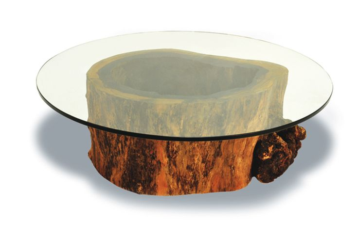 17 best ideas about tree trunk coffee table on pinterest Tree trunk coffee table glass top