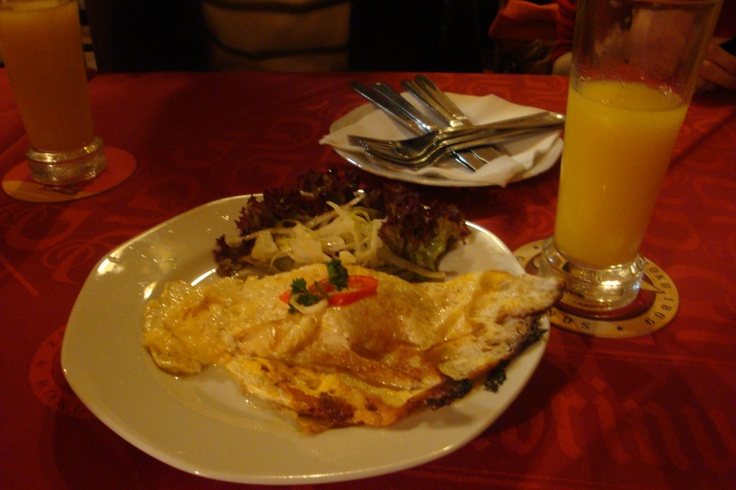 Omelete ala Prague (traditional Prague dish)