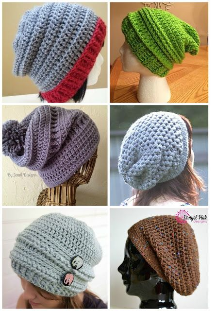 My Creative Canadian Life: FREE Pattern Friday - Slouch Hats Galore